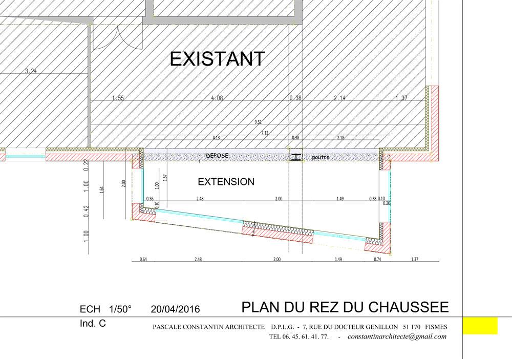 PLAN ARCHITECTURE PASCALE CONSTANTIN